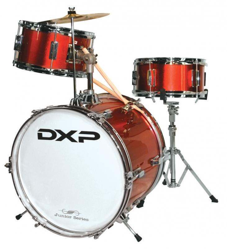 dxp 104 2 3 piece drum kit red. Black Bedroom Furniture Sets. Home Design Ideas